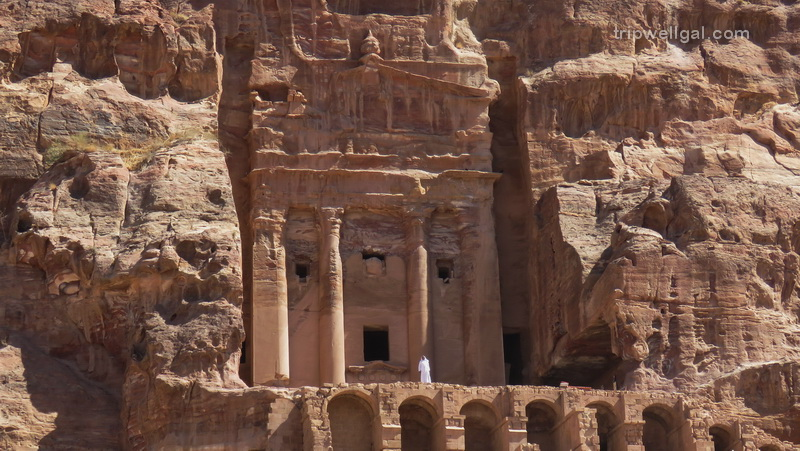 Man and monastery inside Petra