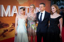 Kate Mara, Kristen Wiig, Matt Damon©JamesGillham/StingMedia.co.uk