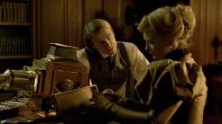 Doctor McMichael (Charlie Hunnam) warns Edith