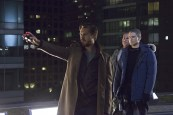 """DC's Legends of Tomorrow -- """"Pilot, Part 1"""" -- Image LGN101d_0316b -- Pictured (L-R): Arthur Darvill as Rip Hunter, Dominic Purcell as Mick Rory/Heat Wave and Wentworth Miller as Leonard Snart/Captain Cold -- Photo: Jeff Weddell/The CW © 2015 The CW Network, LLC. All Rights Reserved."""