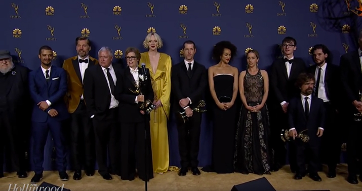 The Cast And Crew Of Game Of Thrones Speak Backstage At The Emmys