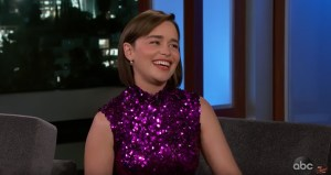 Emilia Clarke Talks Game Of Thrones And That Big Battle on Jimmy Kimmel
