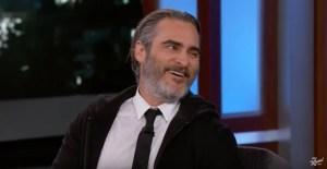 Joaquin Phoenix Talks Joker On Jimmy Kimmel