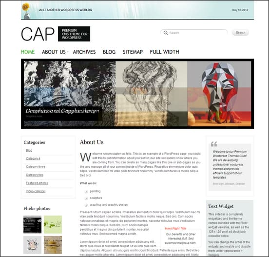 NattyWP: CAP minimal 3 column WordPress theme