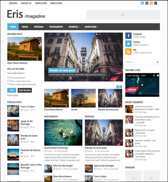 Eris - Responsive WordPress Magazine Theme