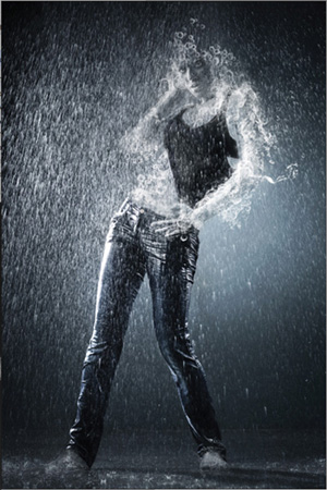 Water dropping effect