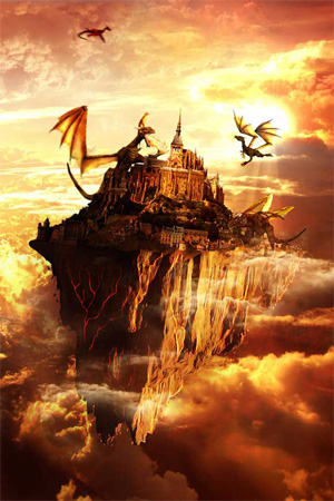Flying Land Illustration