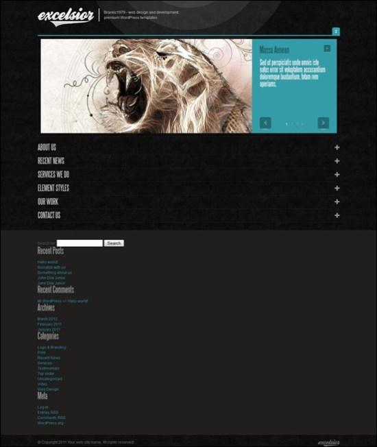 ExcelsiorWP - One Page Portofolio Theme
