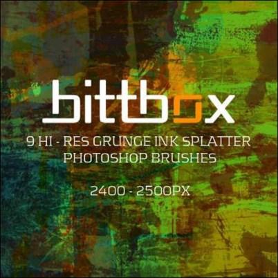 grunge-ink-splatter-brushes