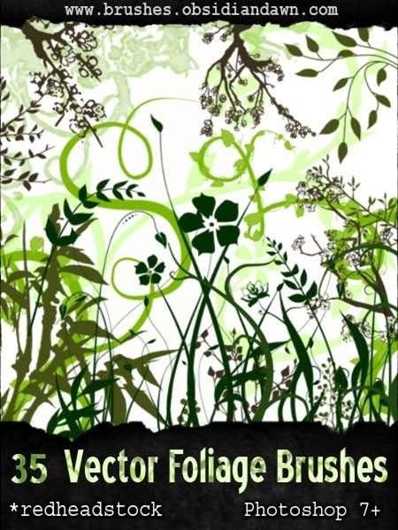 vector-foliage-plant-brushes