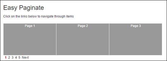 Easy Paginate jQuery plugin for pagination