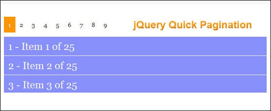 jQuery Quick Pagination