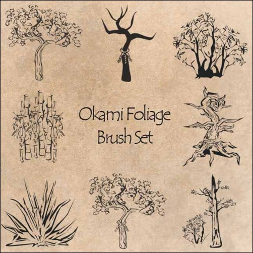okami-foliage-brush-set