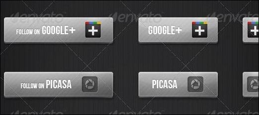 Modern Social Buttons