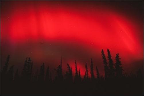 Red-Aurora-Borealis