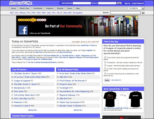 GameFAQs-gaming-websites