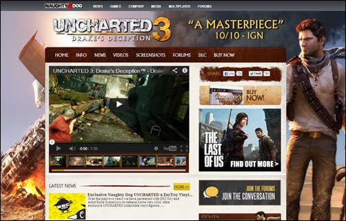 Uncharted-gaming-websites