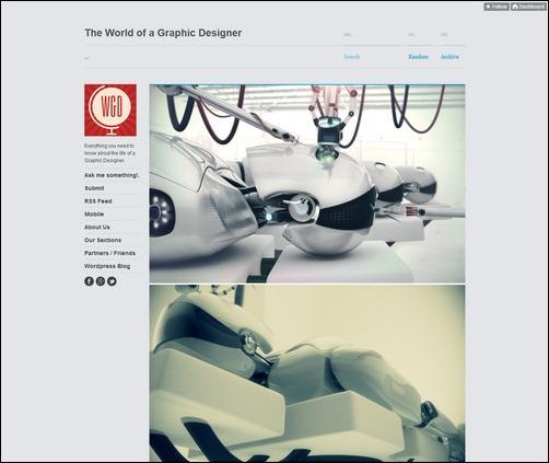 The World of A Graphic Designer Creative Tumblr Blog Designs
