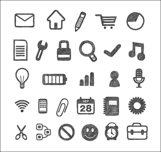 free-hand-traced-icon-sets