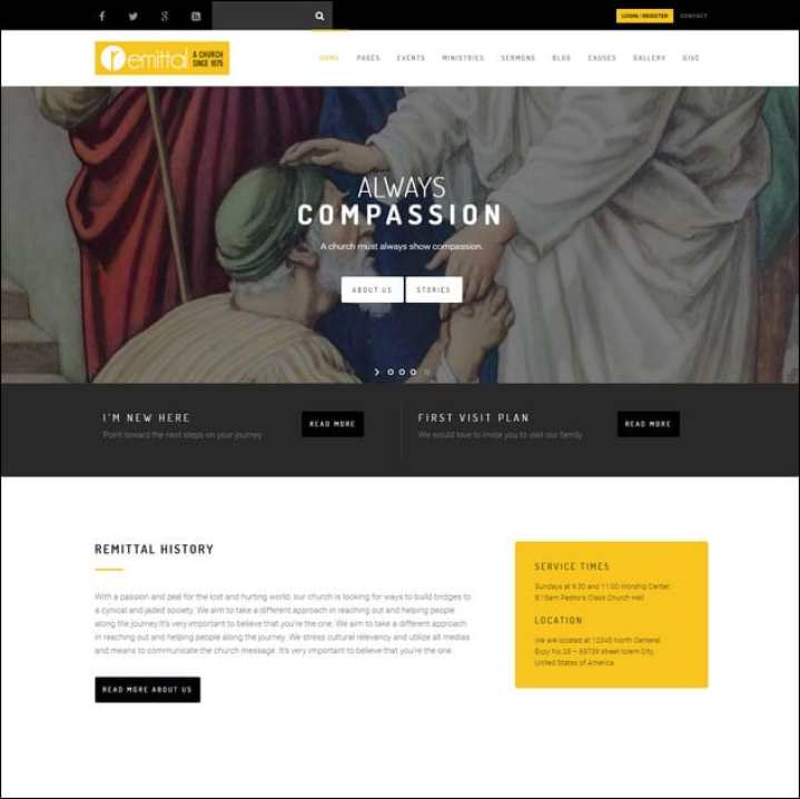 Church Suite Responsive WordPress Theme