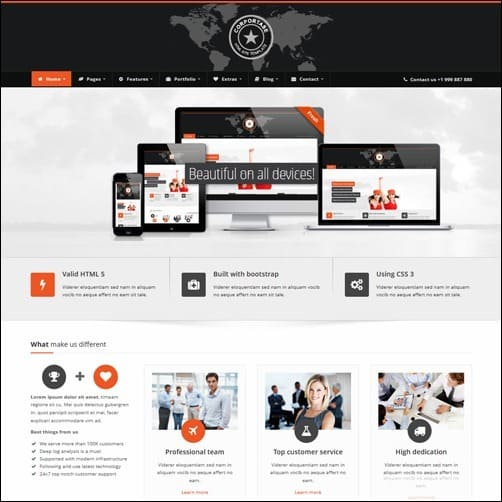 Corportase business website template