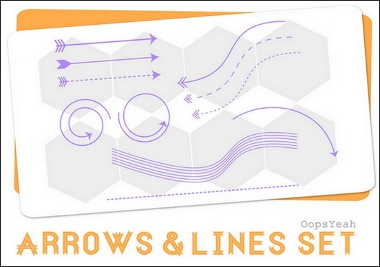 arrows-and-lins-brush-set