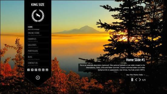 King Size – fullscreen background