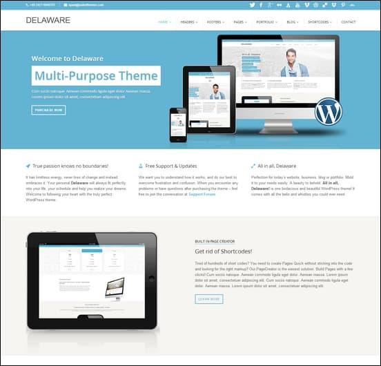 Delaware Responsive Retina WordPress Theme