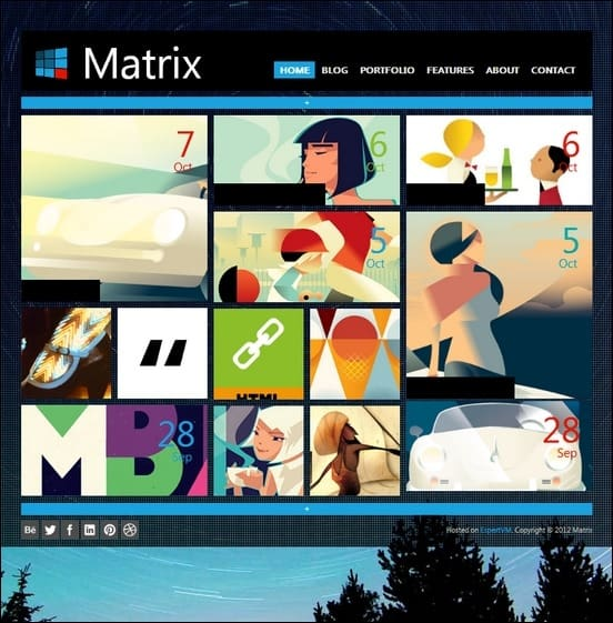 matrix is a cool metro inspire wordpress theme