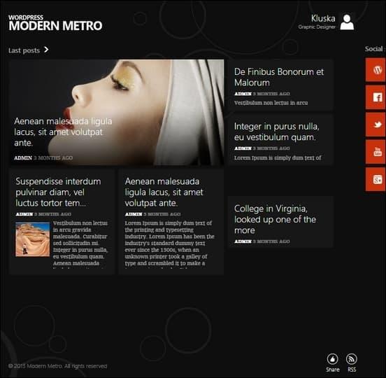 modern metro is a clean unique metro ui tile based theme for wordpress