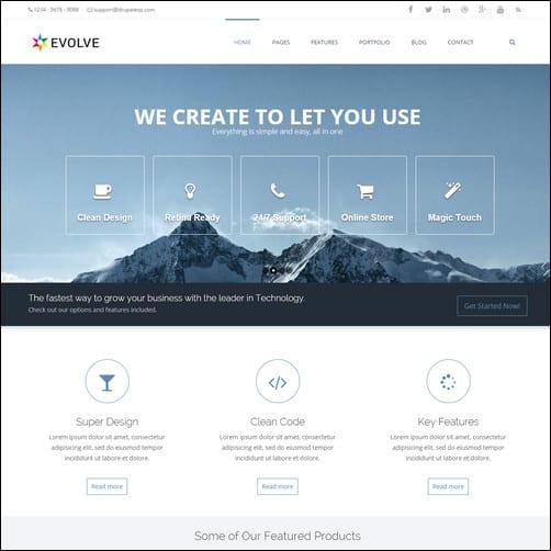 Evolve - MultiPurpose, Creative Drupal 7 Theme
