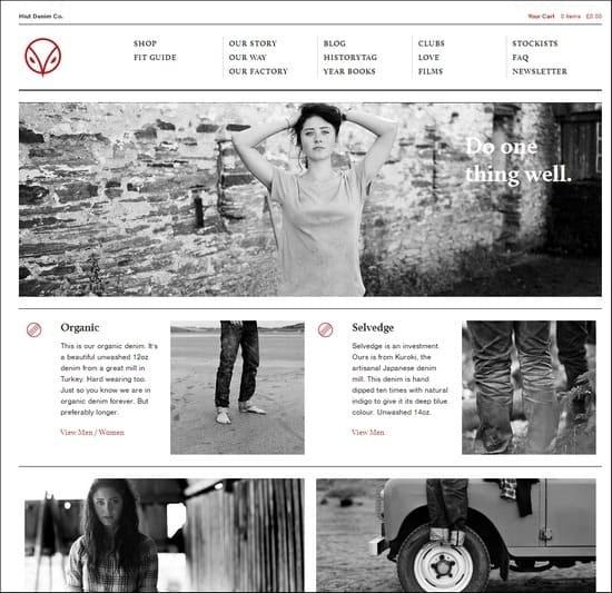 Hiut Denim is a responsive e-commerce site