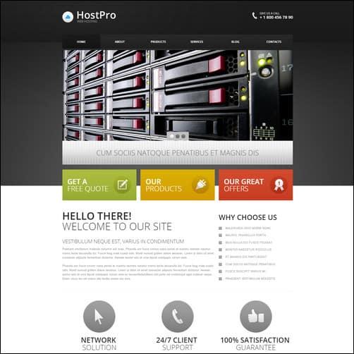 Hosting Responsive Drupal 7 Template