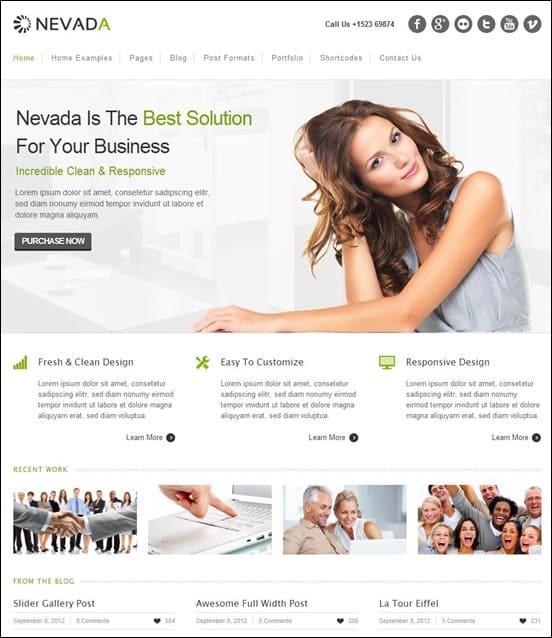 Nevada - Responsive HTML Template