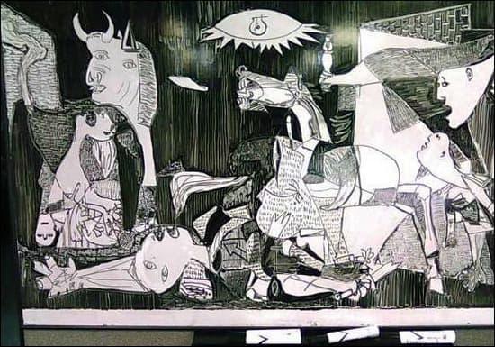 GuernicaWhiteboardArt
