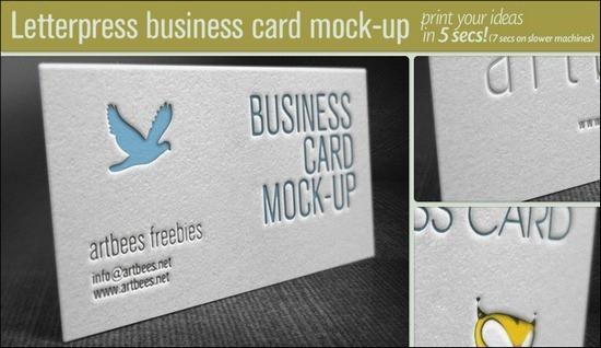 FreeLetterpressBusinessCardMockUp