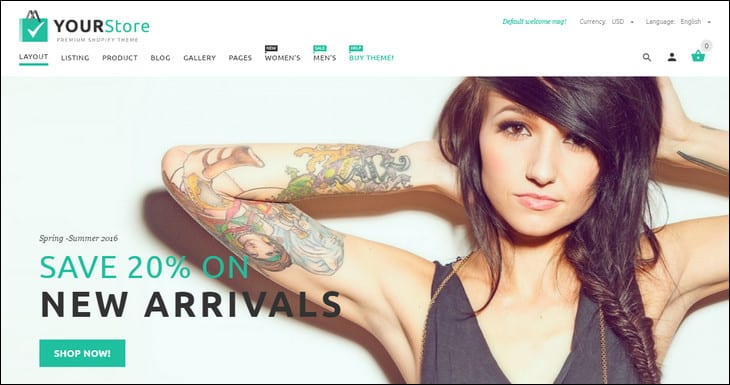 20+ Best Shopify Themes Crush Your Competition in 2017