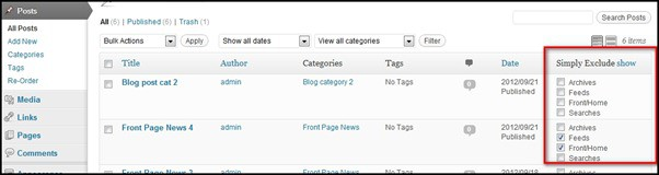 How to Add a News Widget and exclude Posts from WordPress Archives