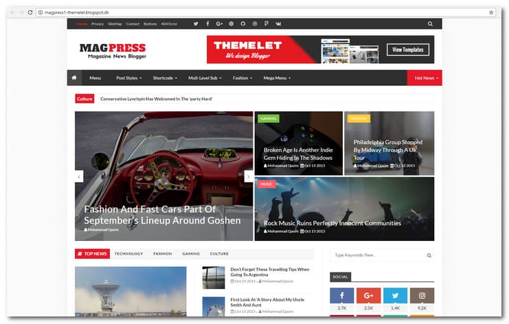Magpress is a modern multipurpose blogger theme