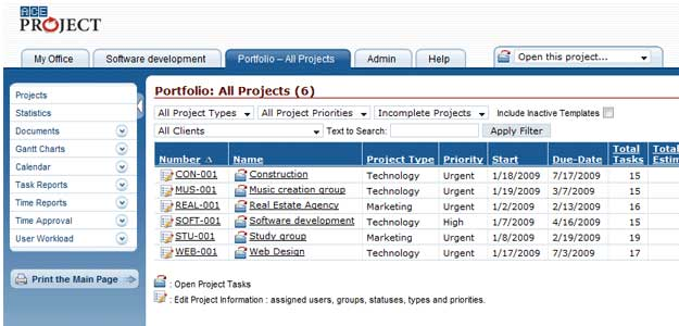 project mgr tools