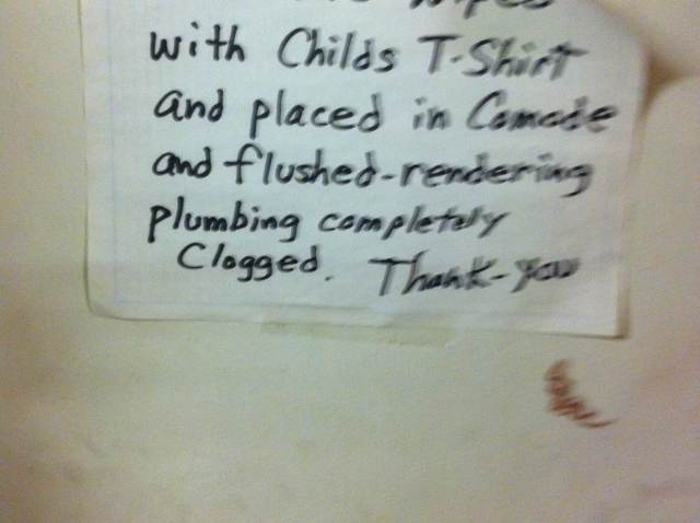 funny plumbing sign