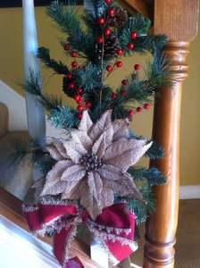 Christmas stairs decor