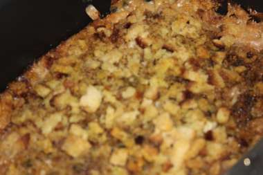 chicken and stuffing in slow cooker