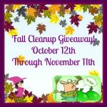 Fall Cleanup #Giveaway #FCG1015 @las930 Ends Nov. 11 ENDED