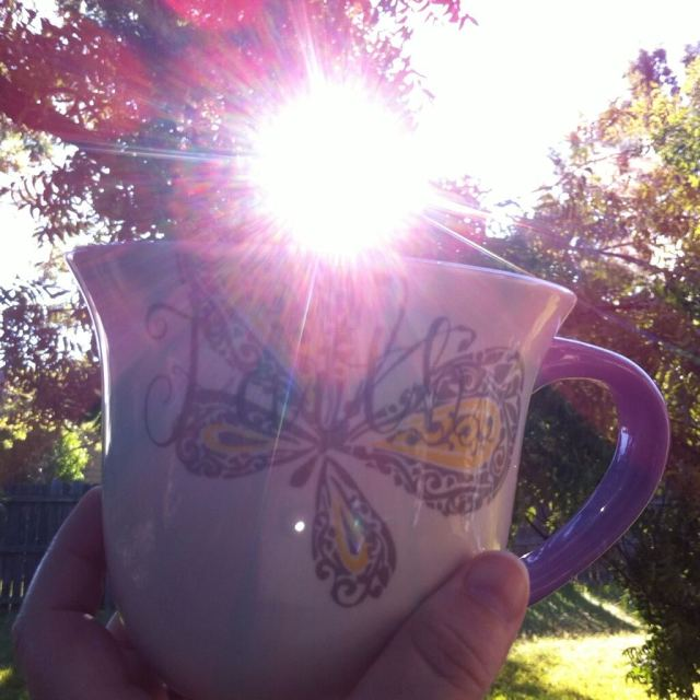 Coffee with Sun Illuminating