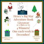 Henry's Big Star Adventure Book #Giveaway #GTG2015 Ends Dec. 25 ENDED