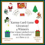 Karma Card Game by Set Games #Giveaway Ends Dec. 25 ENDED