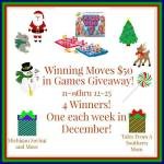 Winning Moves #Giveaway #GTG2015 Ends Dec. 25 ENDED