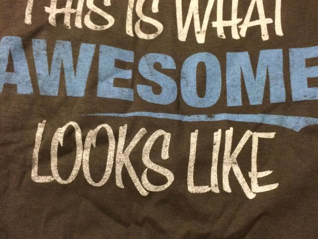 This t-shirt is a fun way to tell him what we think of him.