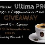 Capresso Ultima PRO Espresso & Cappuccino Machine Giveaway Ends June 27 *ENDED*